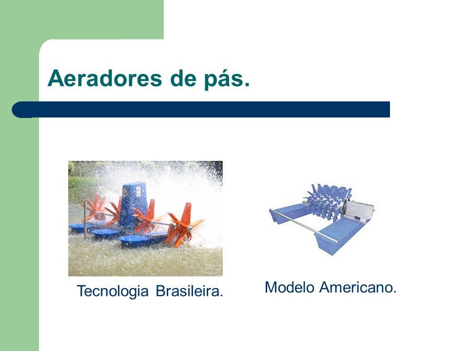 Aeradores de pás. Modelo Americano. Tecnologia Brasileira.