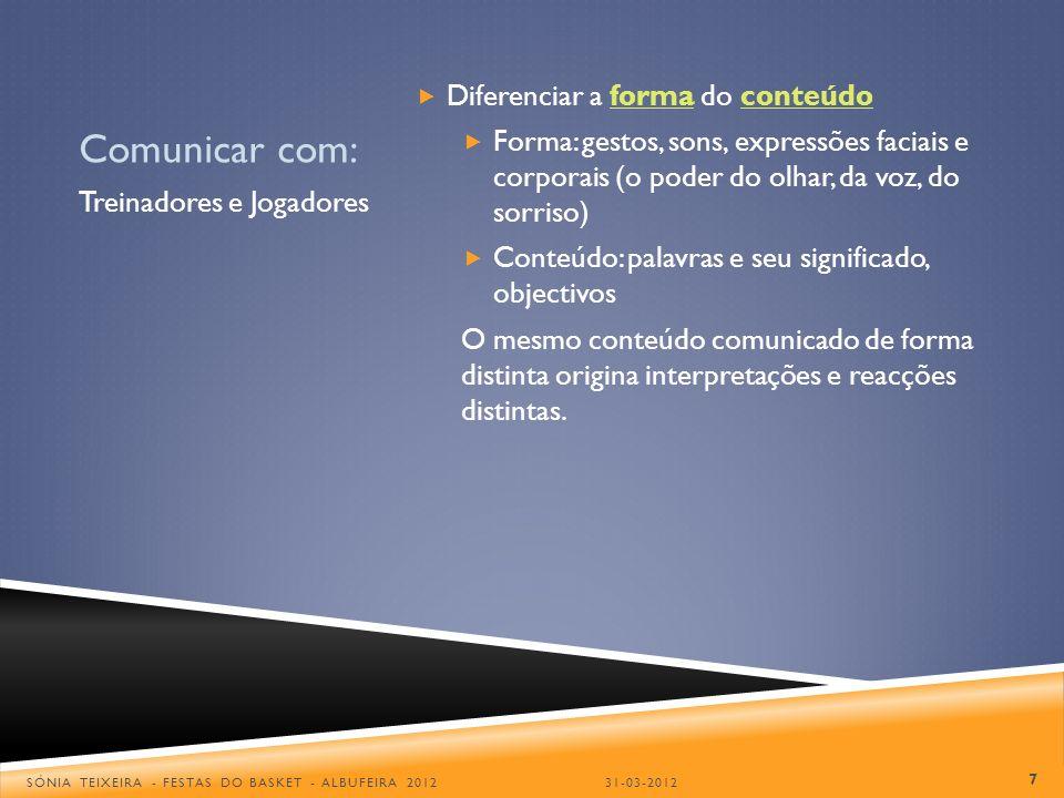 Comunicar com: Diferenciar a forma do conteúdo