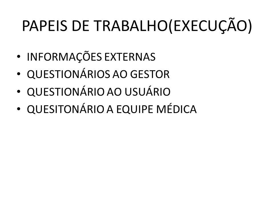 PAPEIS DE TRABALHO(EXECUÇÃO)