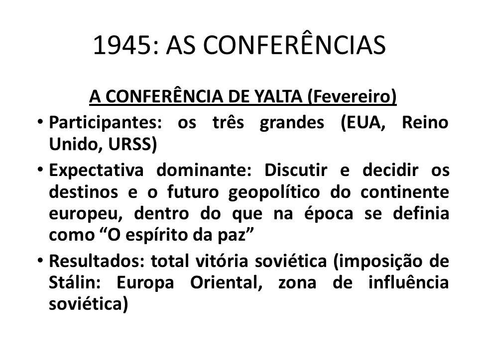 A CONFERÊNCIA DE YALTA (Fevereiro)