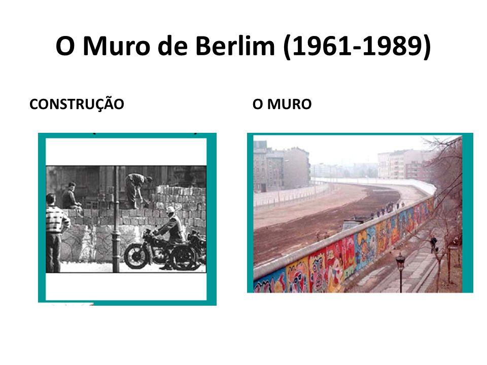 O Muro de Berlim (1961-1989) CONSTRUÇÃO O MURO