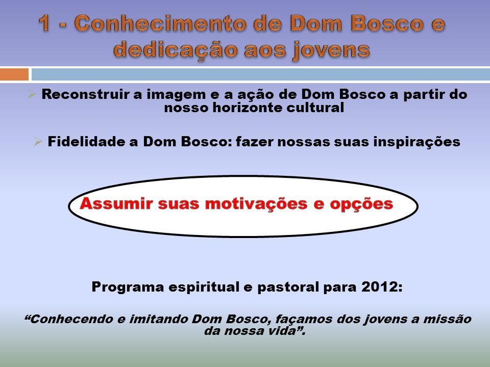 1 - Conhecimento de Dom Bosco e dedicação aos jovens
