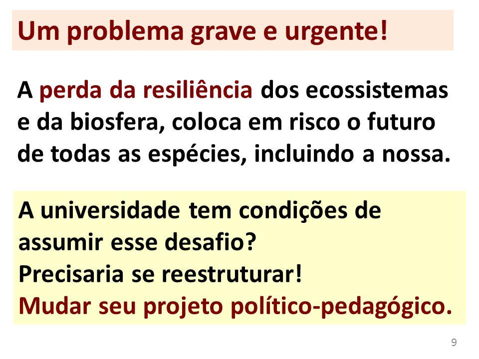 Um problema grave e urgente!