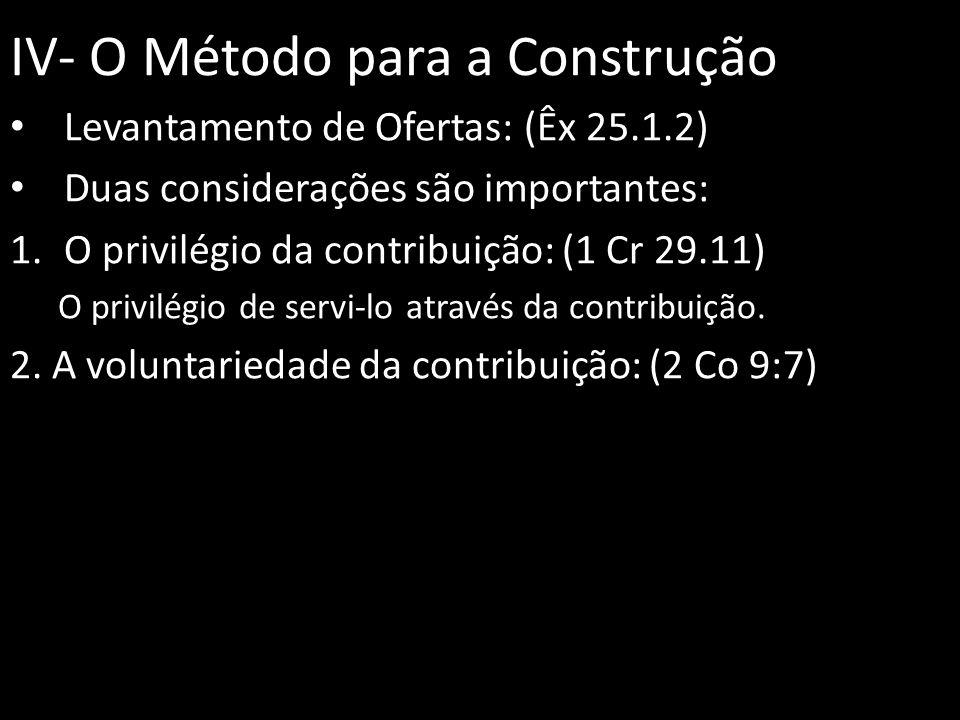 IV- O Método para a Construção