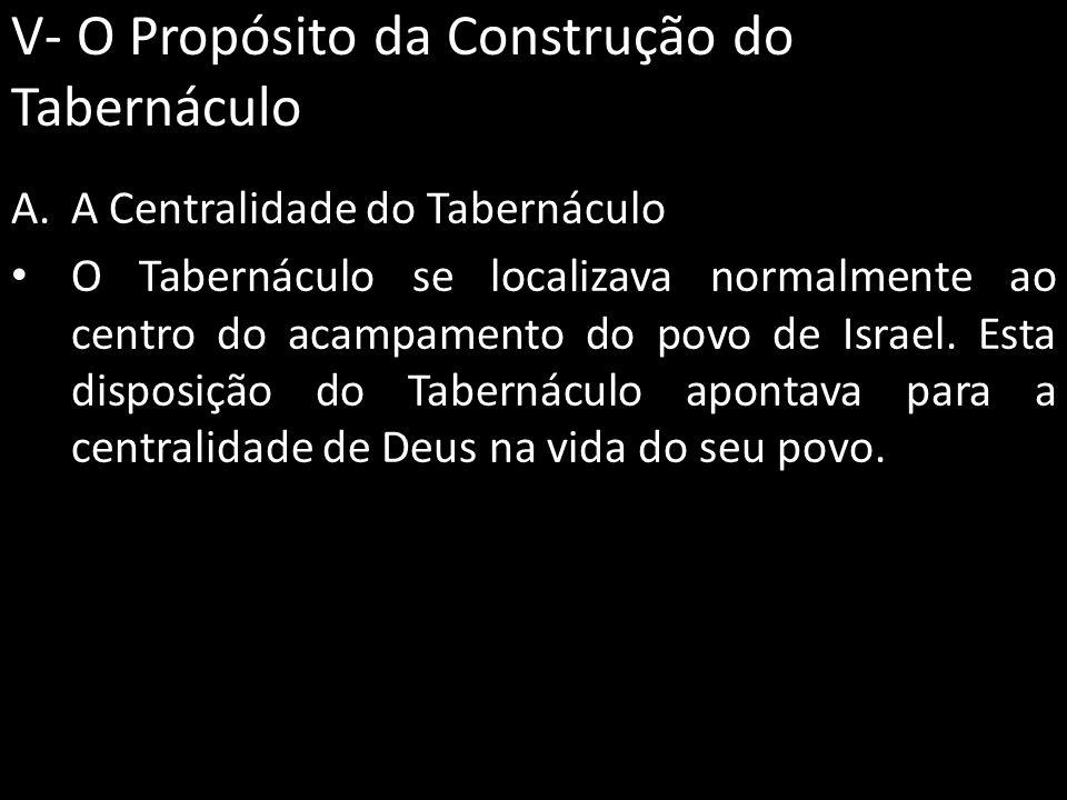 V- O Propósito da Construção do Tabernáculo