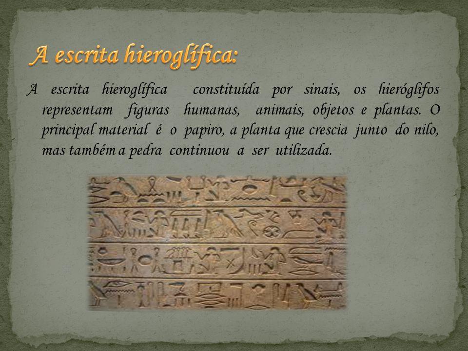 A escrita hieroglífica: