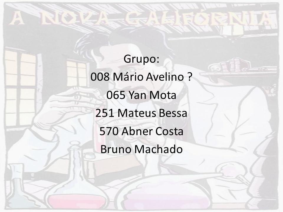 Grupo: 008 Mário Avelino 065 Yan Mota 251 Mateus Bessa 570 Abner Costa Bruno Machado