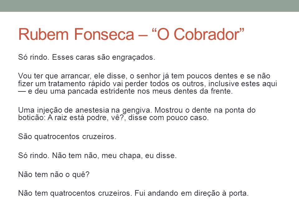 Rubem Fonseca – O Cobrador