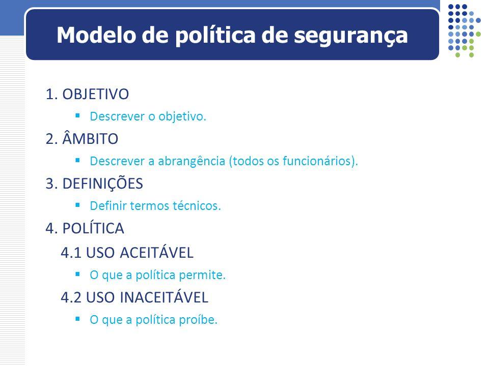 Modelo de política de segurança
