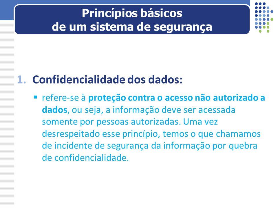 Princípios básicos de um sistema de segurança
