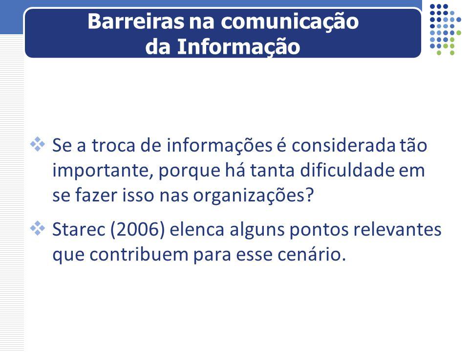 Barreiras na comunicação da Informação