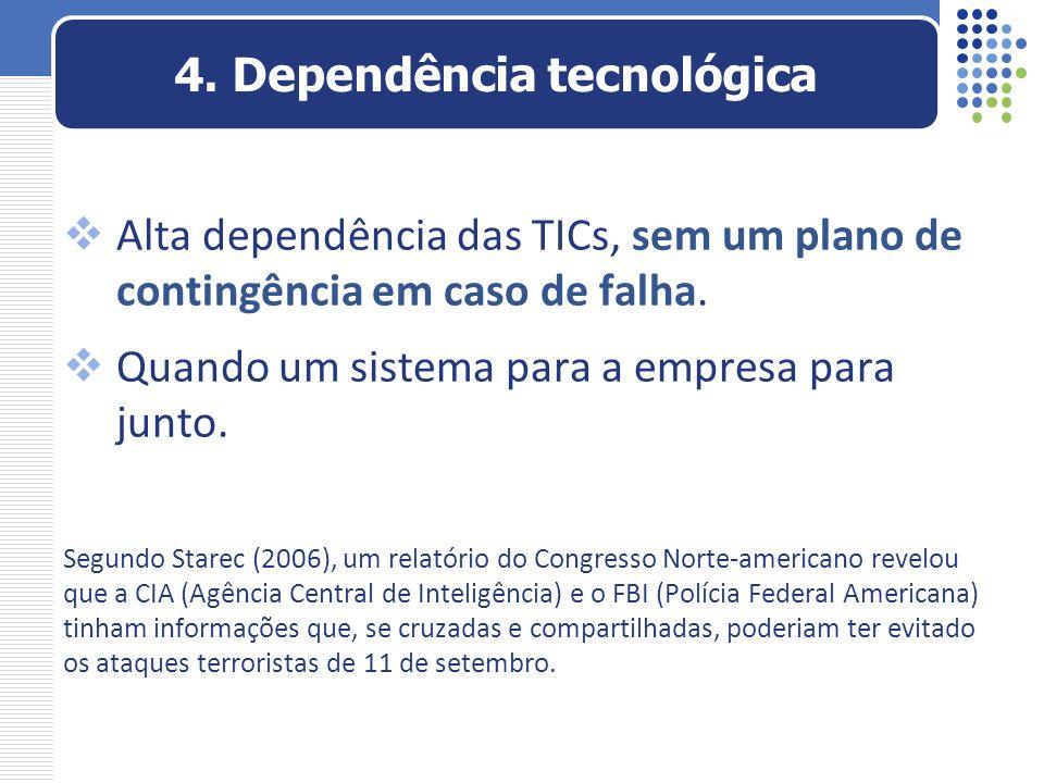 4. Dependência tecnológica