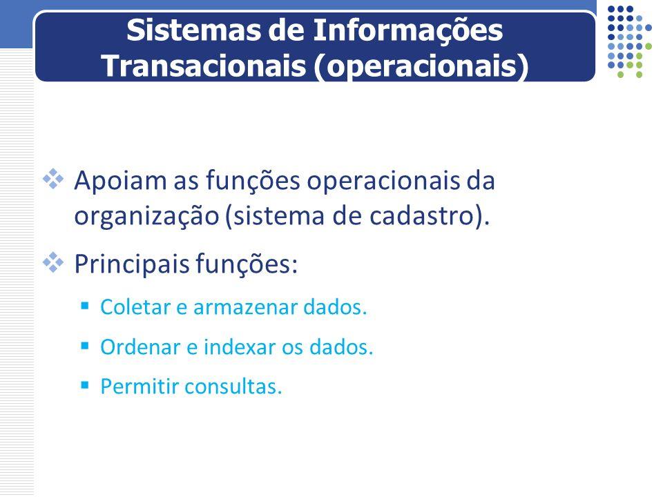 Sistemas de Informações Transacionais (operacionais)
