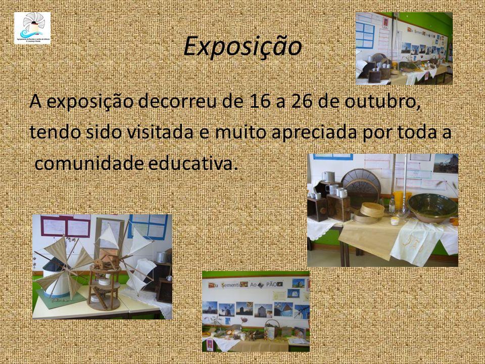 Exposição A exposição decorreu de 16 a 26 de outubro,