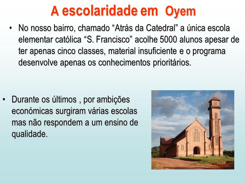 A escolaridade em Oyem