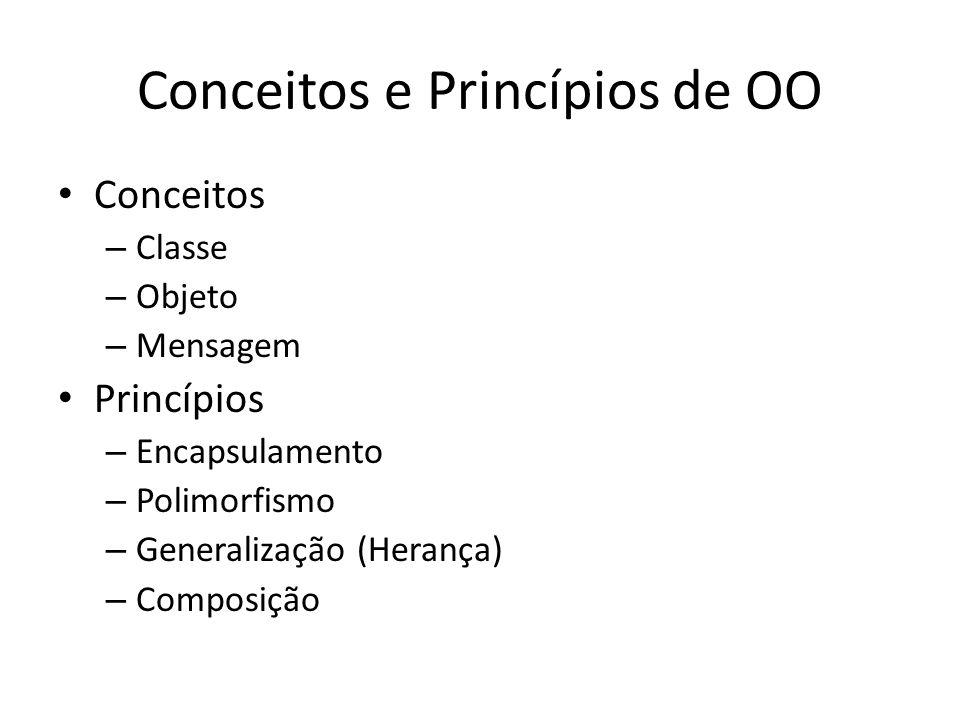 Conceitos e Princípios de OO