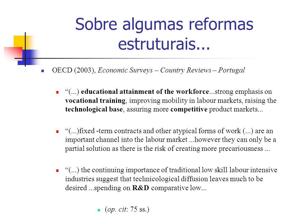 Sobre algumas reformas estruturais...
