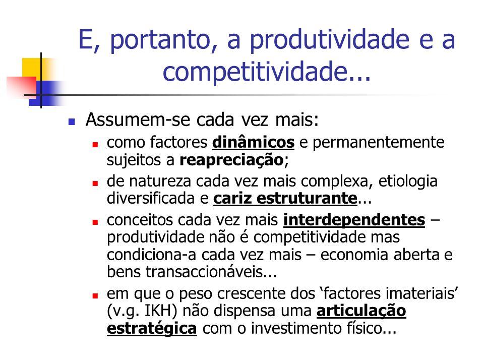 E, portanto, a produtividade e a competitividade...
