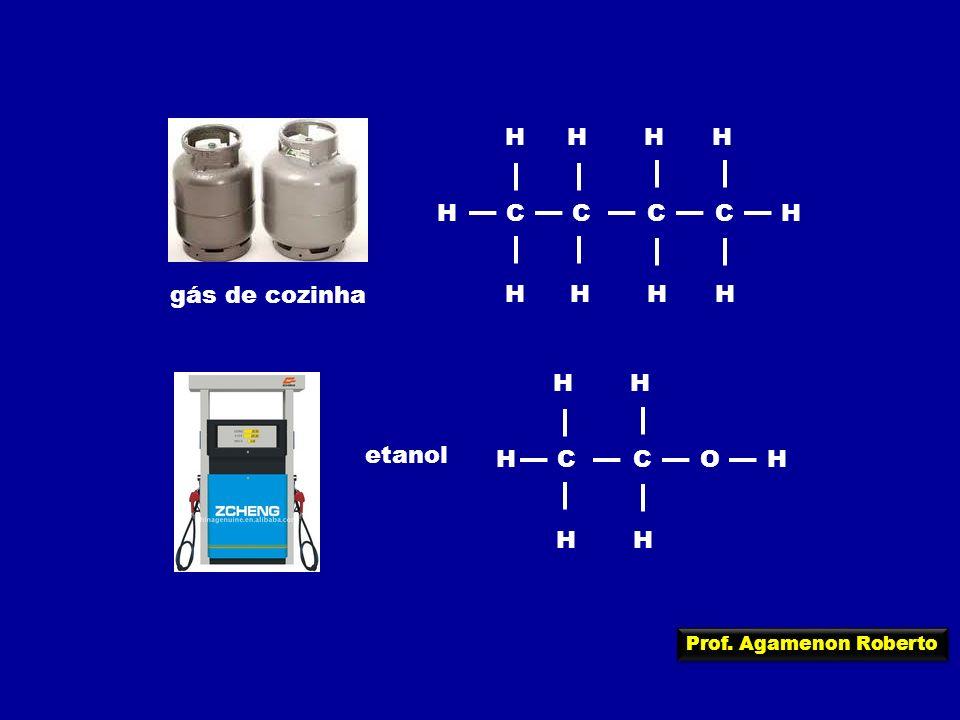 H C gás de cozinha H C O etanol Prof. Agamenon Roberto