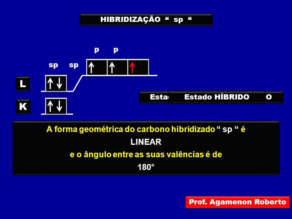 L K A forma geométrica do carbono hibridizado sp é LINEAR