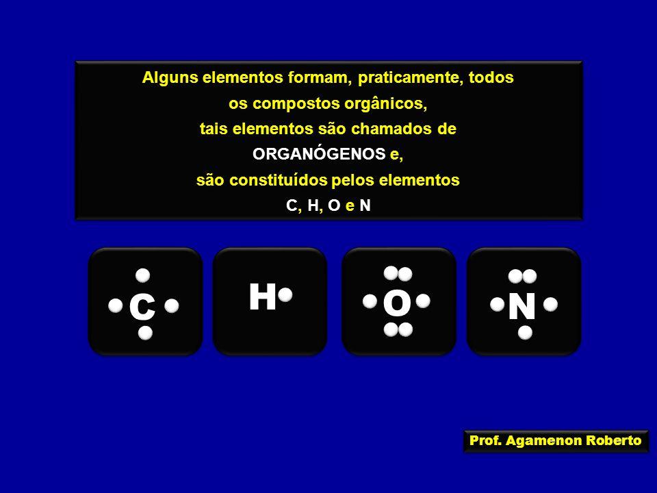 H O C N Alguns elementos formam, praticamente, todos