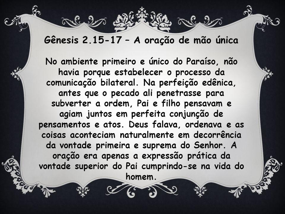 Gênesis 2.15-17 – A oração de mão única