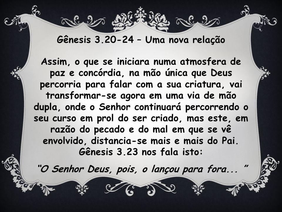Gênesis 3.20-24 – Uma nova relação