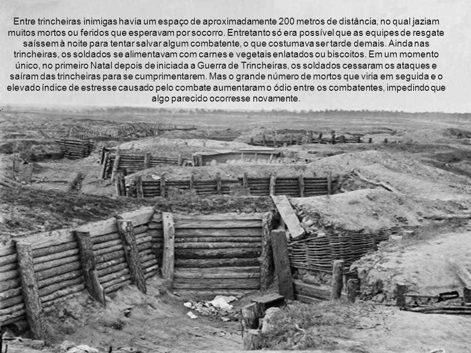 Entre trincheiras inimigas havia um espaço de aproximadamente 200 metros de distância, no qual jaziam muitos mortos ou feridos que esperavam por socorro.