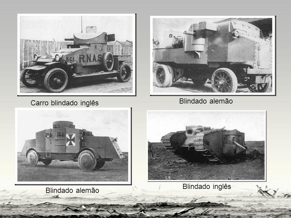 Carro blindado inglês Blindado alemão Blindado alemão Blindado inglês