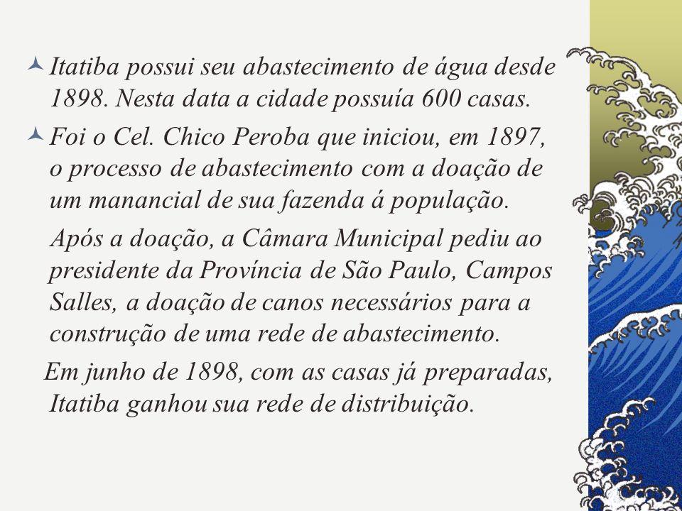 Itatiba possui seu abastecimento de água desde 1898