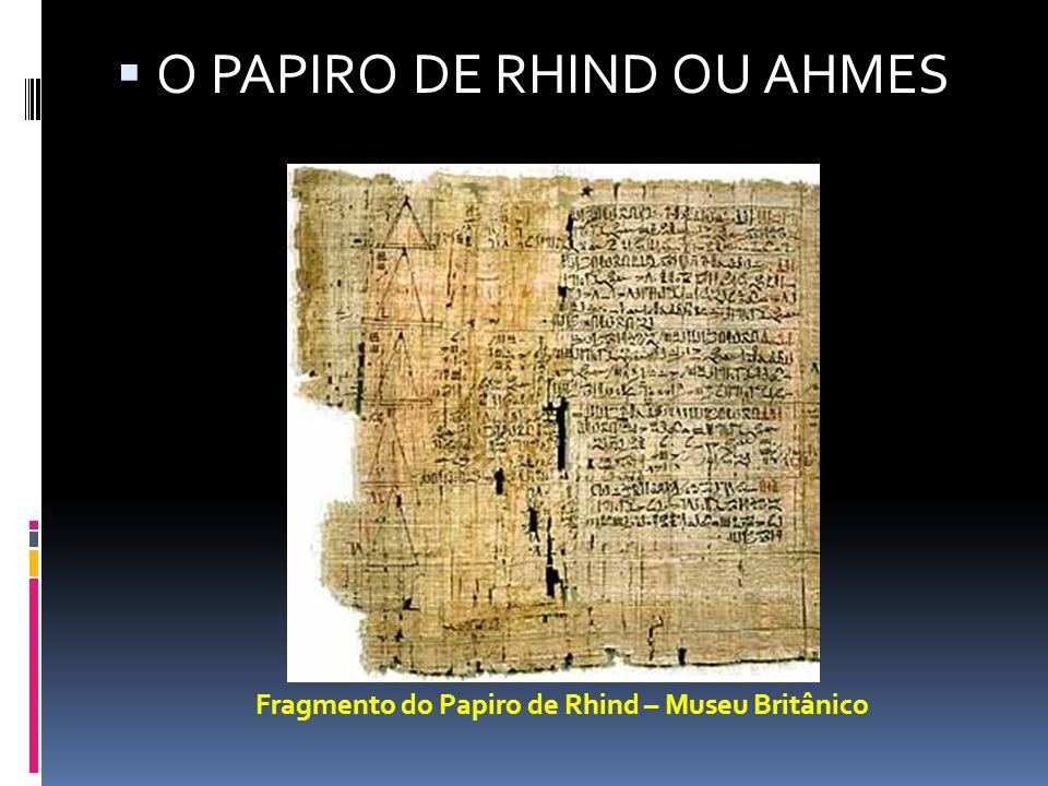 Fragmento do Papiro de Rhind – Museu Britânico