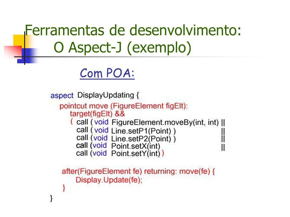 Ferramentas de desenvolvimento: O Aspect-J (exemplo)
