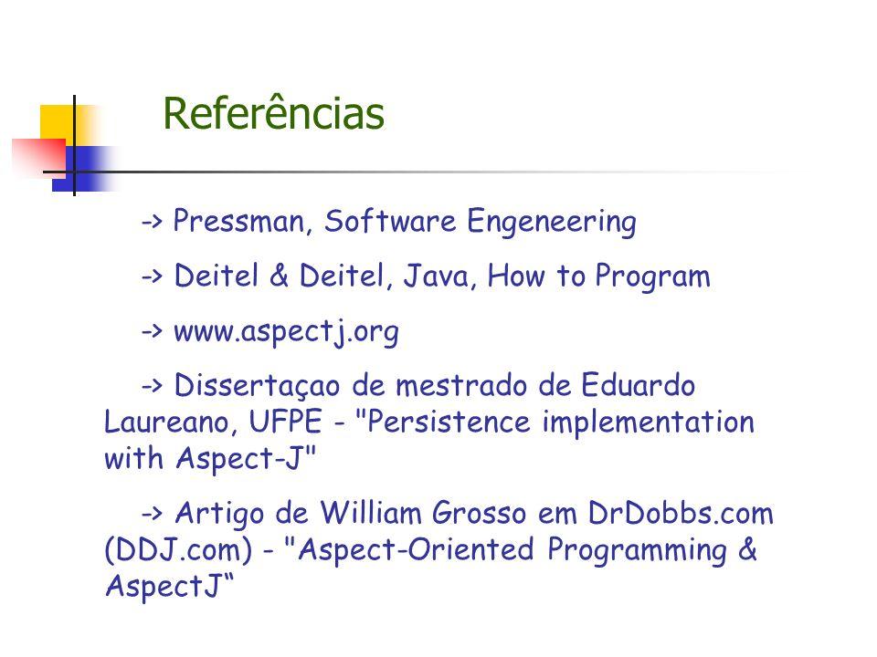 Referências -> Pressman, Software Engeneering