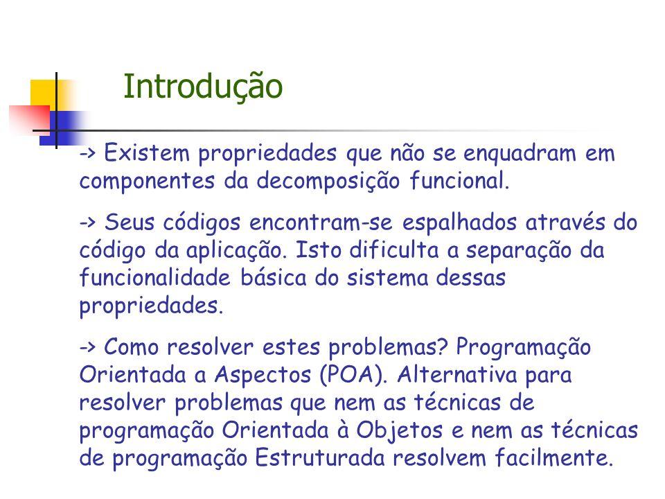 Introdução -> Existem propriedades que não se enquadram em componentes da decomposição funcional.