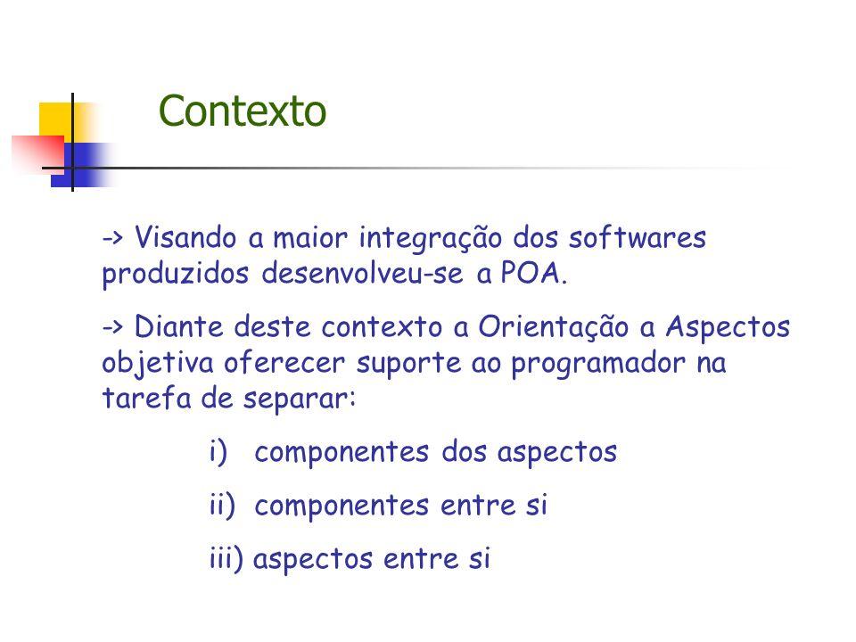 Contexto -> Visando a maior integração dos softwares produzidos desenvolveu-se a POA.