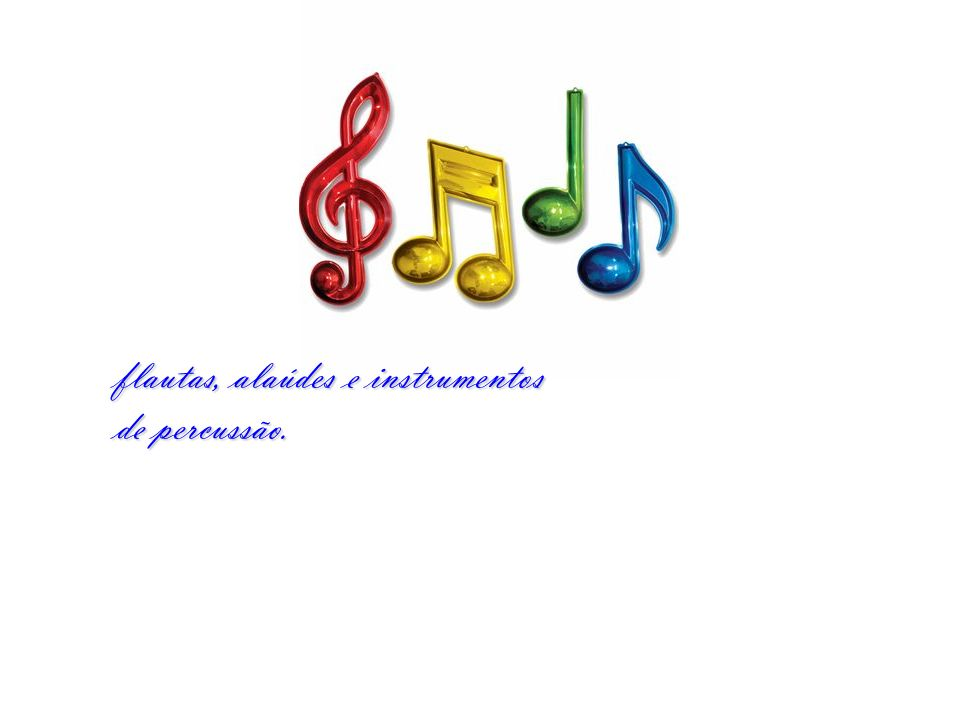 flautas, alaúdes e instrumentos