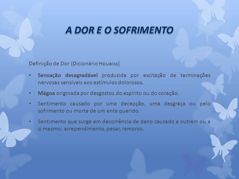 A DOR E O SOFRIMENTO Definição de Dor (Dicionário Houaiss)