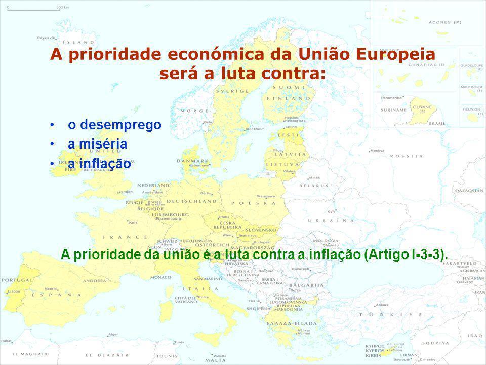 A prioridade económica da União Europeia será a luta contra: