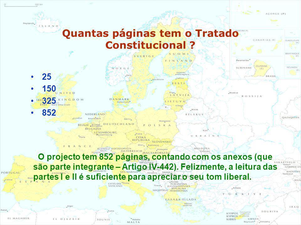 Quantas páginas tem o Tratado Constitucional