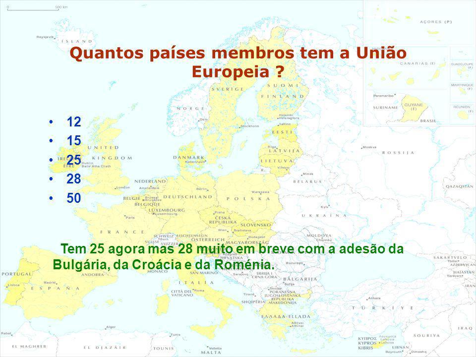 Quantos países membros tem a União Europeia