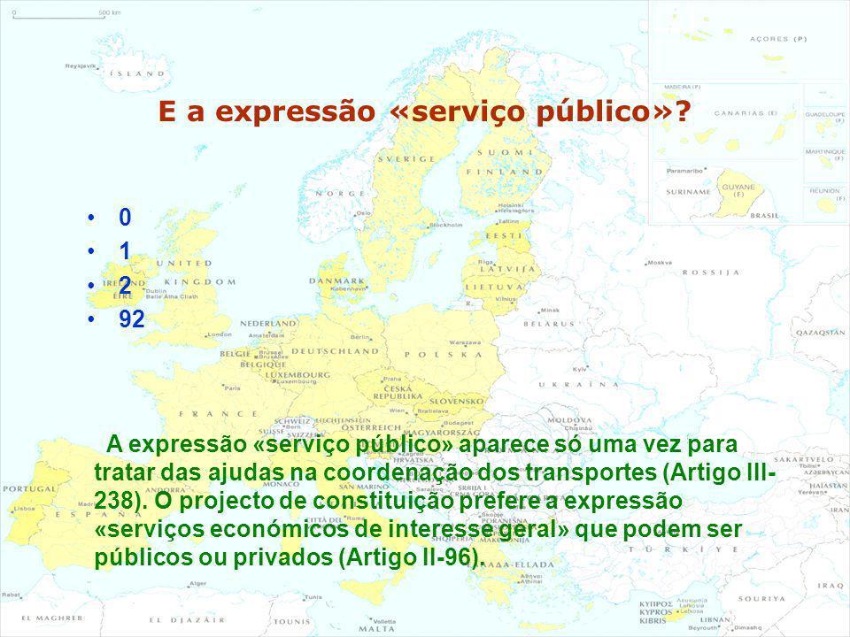 E a expressão «serviço público»