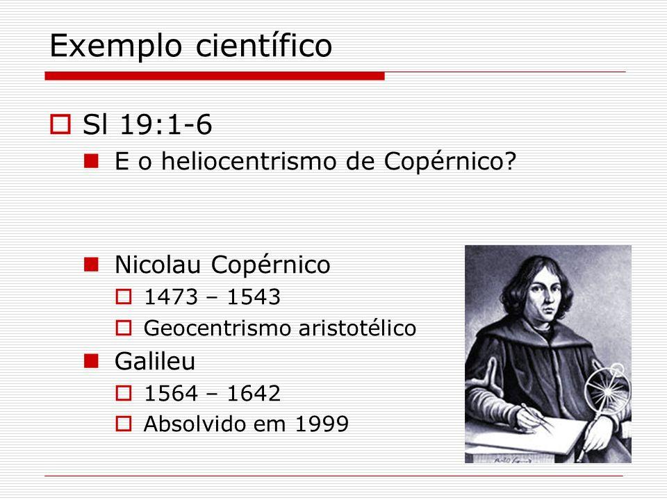 Exemplo científico Sl 19:1-6 E o heliocentrismo de Copérnico