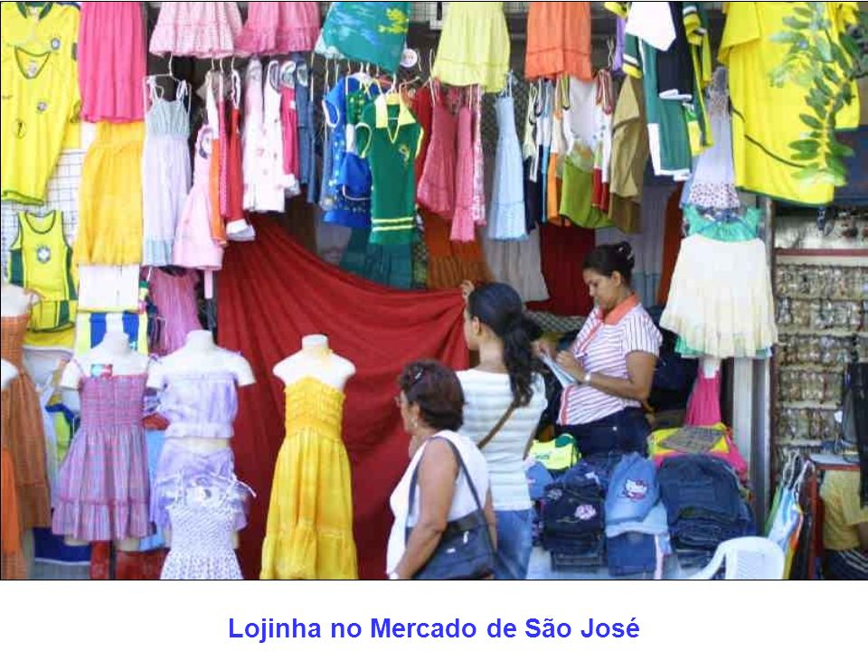 Lojinha no Mercado de São José