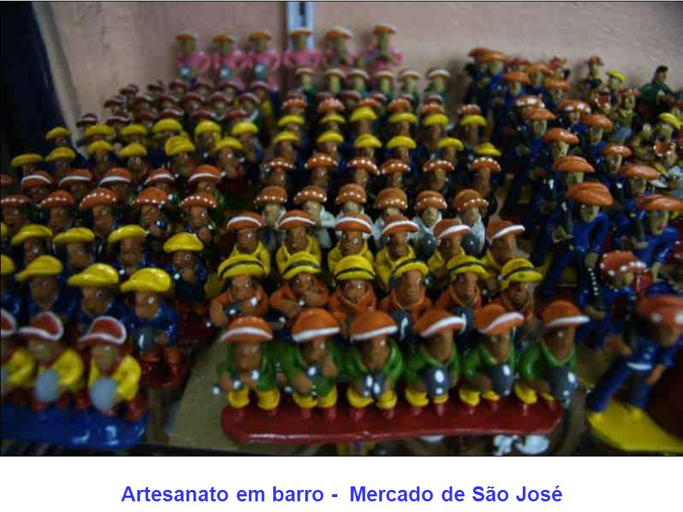 Artesanato em barro - Mercado de São José
