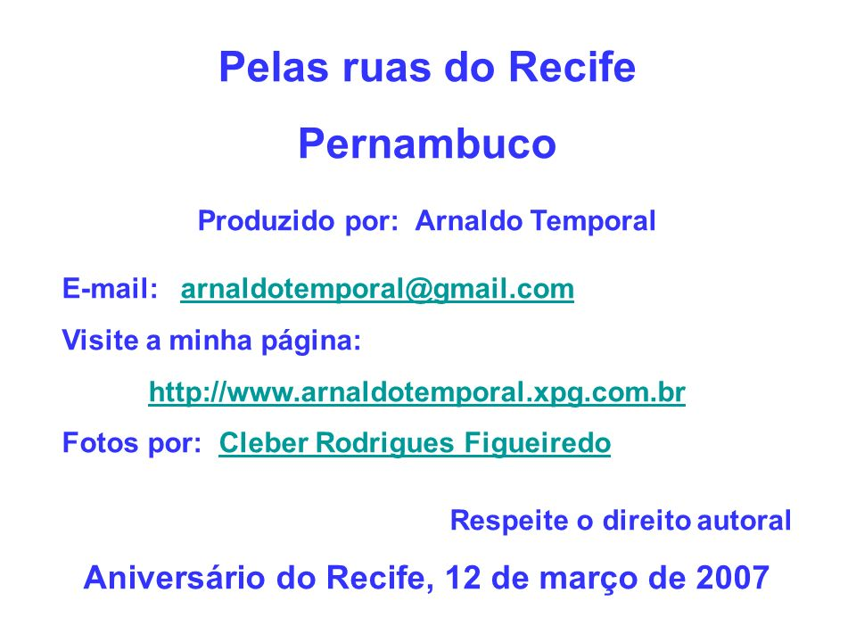 Pelas ruas do Recife Pernambuco