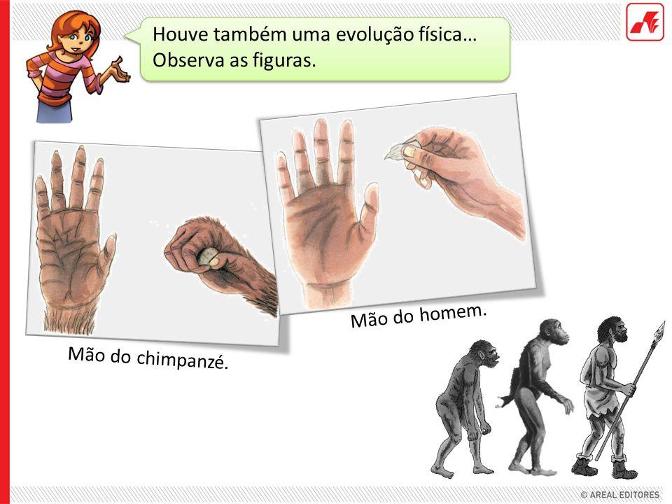 Houve também uma evolução física… Observa as figuras.