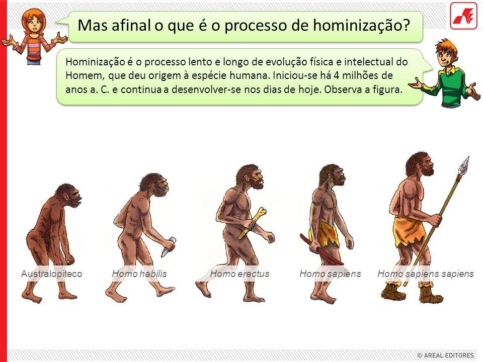 Mas afinal o que é o processo de hominização