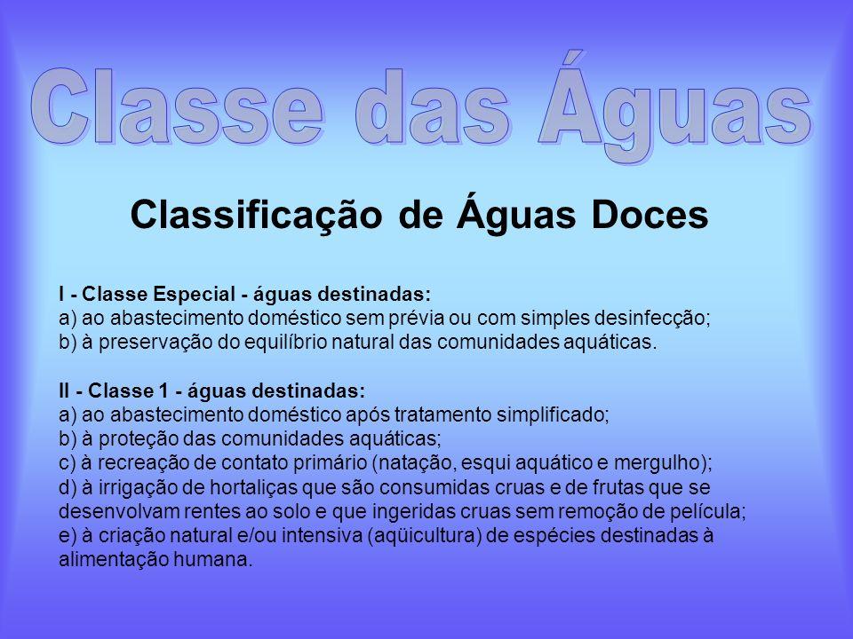 Classificação de Águas Doces