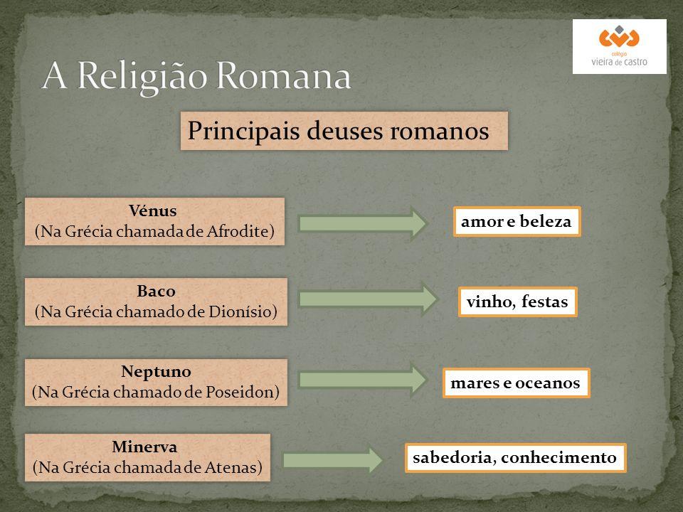 A Religião Romana Principais deuses romanos Vénus
