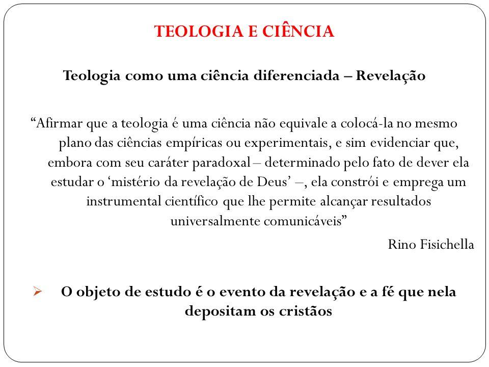 Teologia como uma ciência diferenciada – Revelação